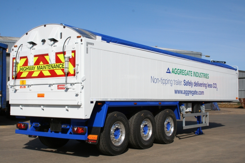 Walking Floor Aggregate Trailer on Concrete Truck Designs